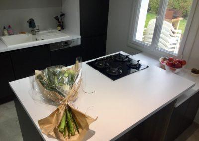 agencement de cuisine moderne contemporaine à Caen (Calvados -14)