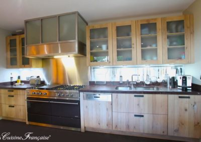 cuisine indsutrielle bois à Caen