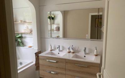 Avant / Après : Salle de bain avec baignoire